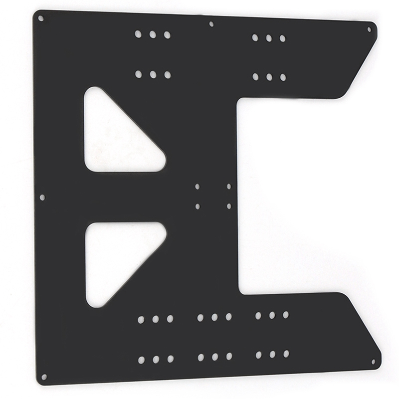 Black Aluminum Y Carriage Anodized Plate Upgrade V2 Prusa I3 V2 Hot Bed Support Plate For Prusa I3 Diy 3D Printer Parts-in 3D Printer Parts & Accessories from Computer & Office
