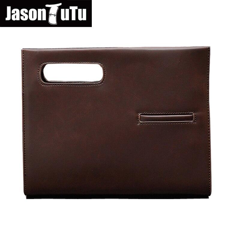 b3556a806283 Джейсон пачка брендовая модная сумка мужчины сумку бизнес-клатч кожаная мужская  сумка Черный Конверт B19