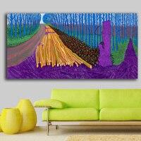 Pittura A Olio di moda LEGNAME INVERNO Paiting Home Decor Su Tela Modern Wall Art Canvas Stampa Poster Pittura Della Tela di canapa No Frame