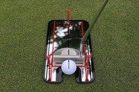 2017 hot sale top quality Golf Training Mirror Putting Aid Practice Eyeline Alignment Putter Swing Trainer