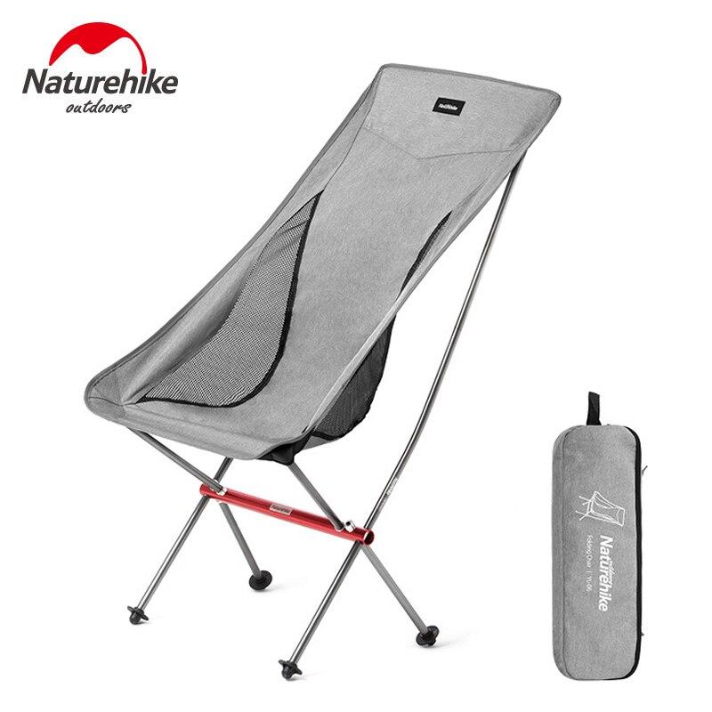 Naturehike Portable Ultralight Camping Chair Outdoor Folding Fishing Chair Alluminum alloy light weight Beach Picnic Chair