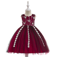 Flower Girls dess kids Lace Rushed Limited Ankle length Bohemian Bow Ball Gown Baby Dress Popular Girls Dress Princess Flower Gi