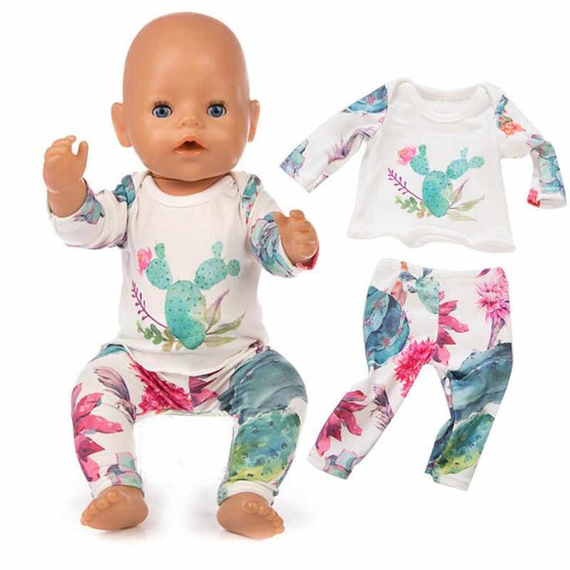 ملابس دمى ولد الطفل صالح 18 بوصة 40-43 سنتيمتر يونيكورن الألبكة الصبار فستان إكسسوارات دمي ملابس للطفل مهرجان هدية عيد ميلاد