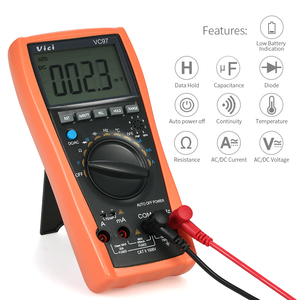 Image 4 - VC97A New VC97 Digital Multimeter Auto Range 1000V DMM Temperature Detector DC AC Voltage Current Meter Capacitance