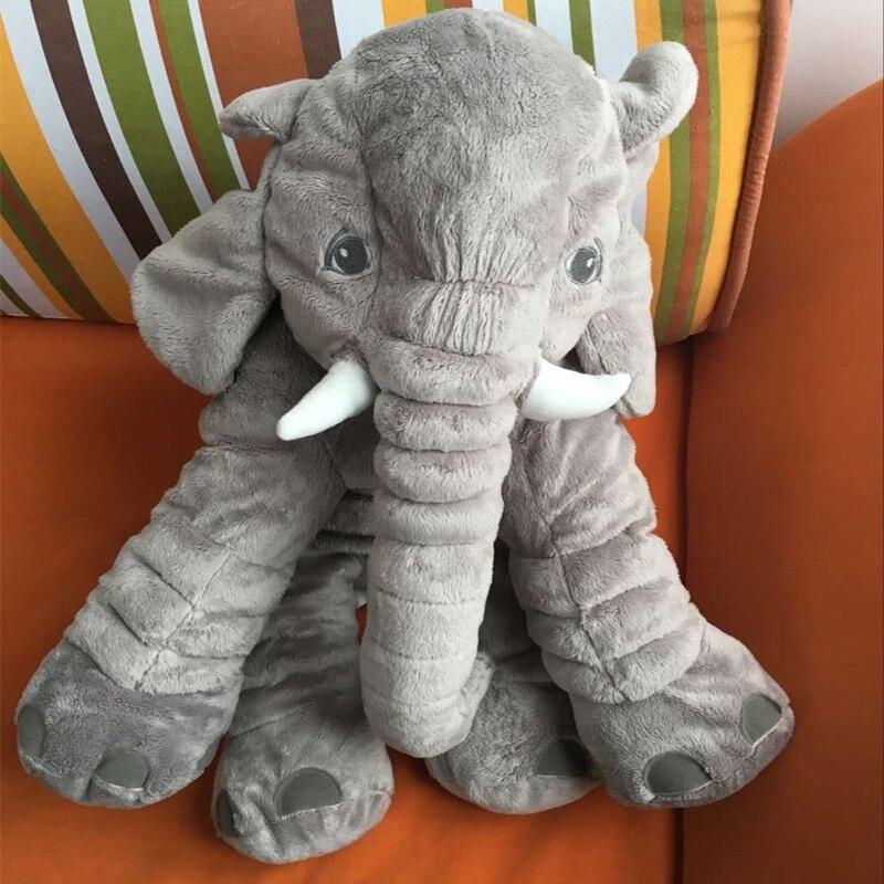 VELEIRO 60 centímetros Animais Elefante Pelucia Elefante Brinquedos de Pelúcia Travesseiro Macio para Dormir Presentes Playmate da Bichos de Pelúcia Do Bebê para o Inverno
