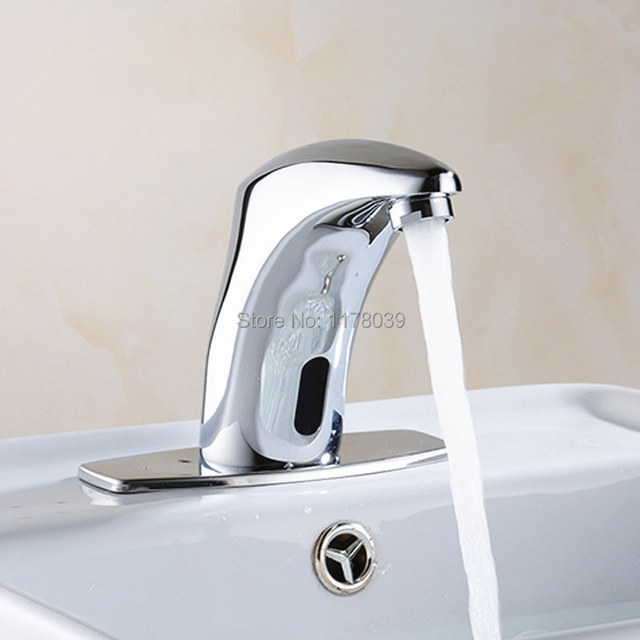 Intelligent infrared sensor faucet,deck mounted AC/DC Automatic ...