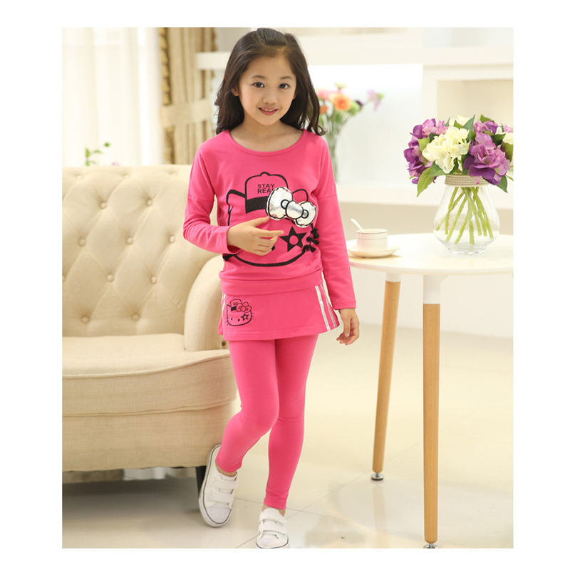 Girl s clothes 2017 spring autumn children s clothing 4 14 year old girl leisure thickening