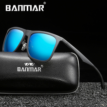 BANMAR Men's Polarized Sunglasses Aluminum Magnesium Sun Glasses Driving Square Shades Oculos Masculino Male Eyewear Goggle aluminum magnesium polarized sunglasses men sports sun glasses night driving mirror male eyewear accessories goggle oculos