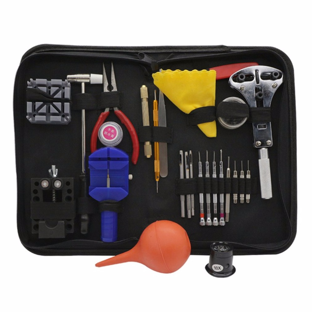 High Grade 27pcs Tool Set Watch Repair Tools Kit Watch Tools Watchmakers Set With Black Clock Change Watches Cell & Accessories