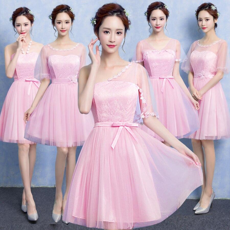 Hermosa Vestido De La Dama Mismo Color Estilo Diferente ...