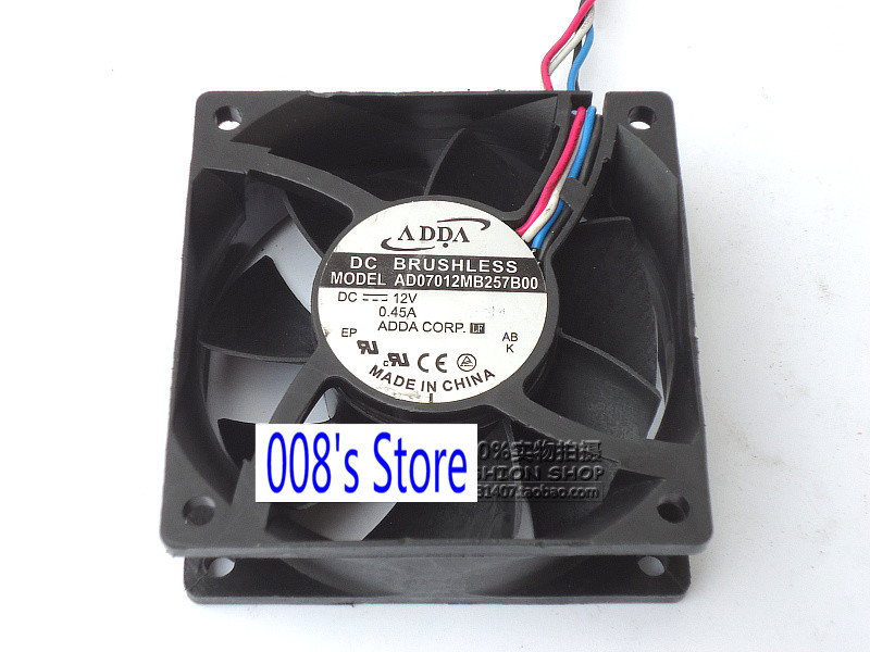 New CPU Cooler <font><b>Fan</b></font> For AD07012MB257B00 <font><b>70mm</b></font> 7cm 70* 70*25mm 7025 DC 12V 0.45A 4 Wire <font><b>pwm</b></font> Cooling image