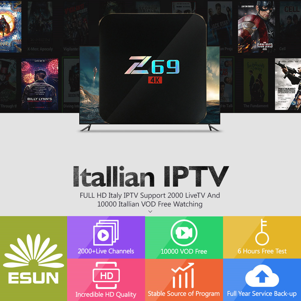 Earnest Z69 With 1 Year Italy Iptv Box 3g/32g Amlogic S905 Italy Iptv Epg 4000+live+vod Configured Europe Albania Ex-yu Xxx Channels Box Street Price Tv Receivers Home Audio & Video