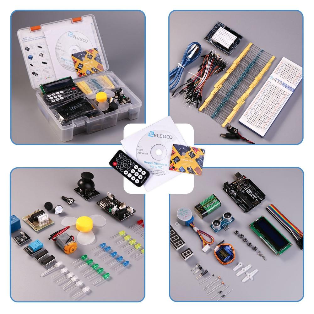 Elegoo Arduino UNO Super Starter Kit+36 Projects+Gift Box + User Manual+PDF(online) Arduino Project Electronics Components Kit