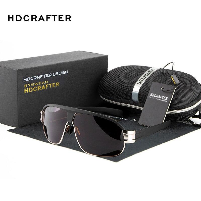 HDCRAFTER Men s High Quality Oversized font b Sunglasses b font Men Polarized UV400 font b