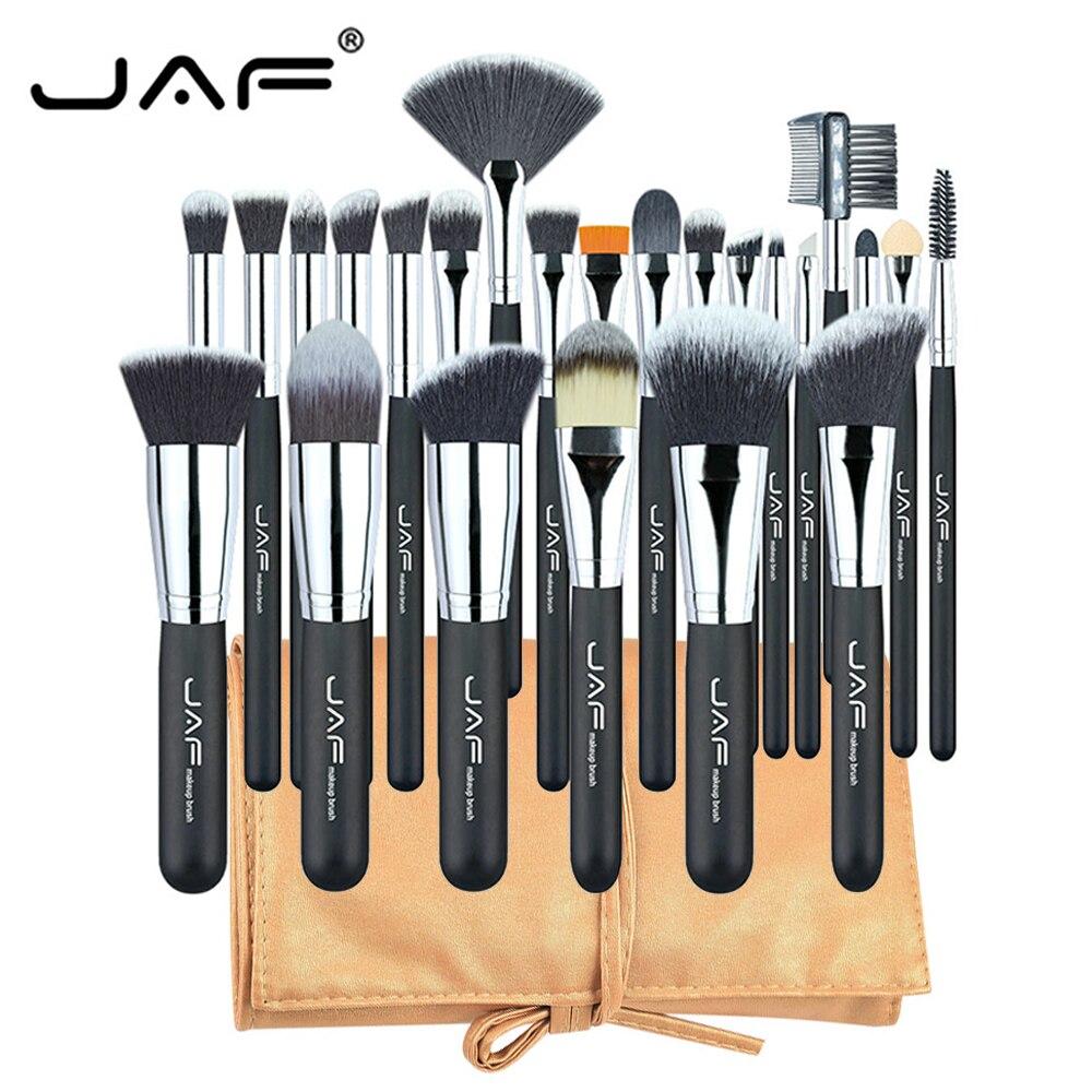 Clearance JAF Professional 24Pcs Cosmetics Brush Set Face Base Blending Makeup Tools Kit Foundation Maquiagem Beauty Brushes