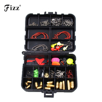 128 Pcs Set 20 Types Lure Fishing Accessories Tackle Box With Fishing Hooks Connector Spring Ring