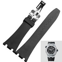 28MM Men Watch Band Strap for Ap Royal OAK Watch with Buckle Free Shipping