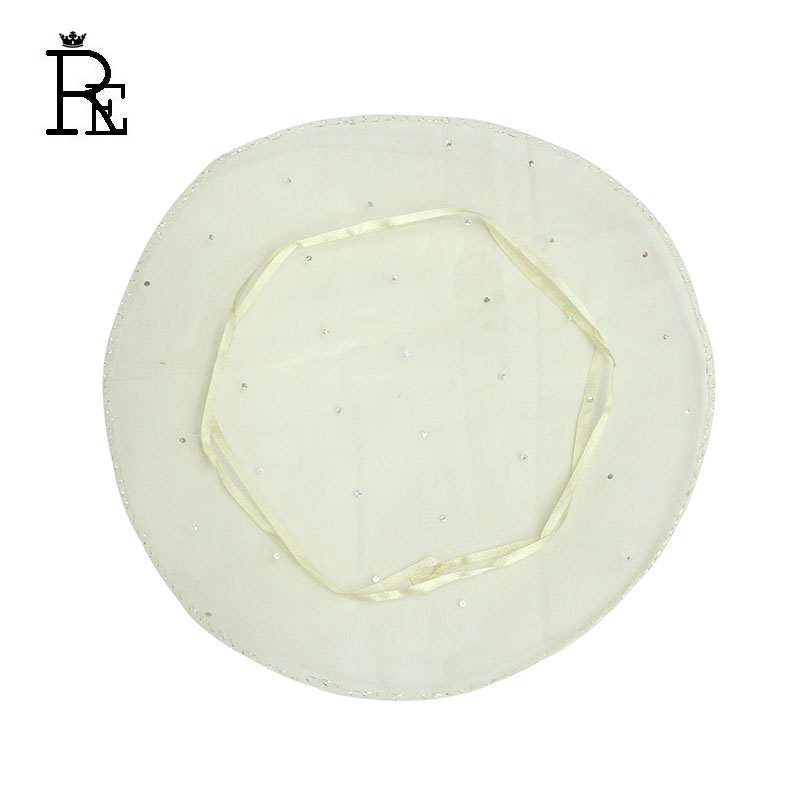 RE 100pcs 26cm Ivory Jewelry Packing Drawable Round Organza Bags Wedding Gift Bags Pouches Sachet Organza Packaging Bags