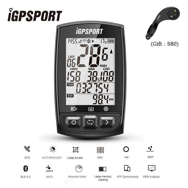 iGPSPORT IGS50E GPS Cycling Computer Wireless IPX7 Waterproof Bicycle Digital Stopwatch Cycling Speedometer ANT+ Bluetooth 4.0 xcadey bicycle power meter crank power meter bicycle gps computer garmin edge bryton igpsport support ant bluetooth