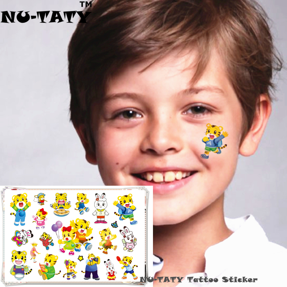 NU TATY Lucu Anak Kecil Harimau Temporary Body Art Tattoo