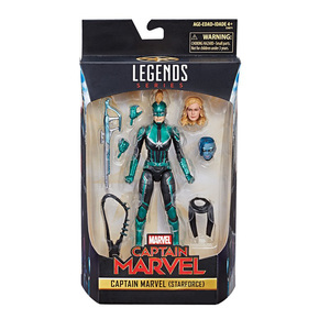 Image 2 - Marvel Avengers Endgame Legends Series Captain Marvel Head Can Be Changed PVC Action Figure Collectible Model Dolls Toy For Kids