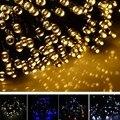 Nova 17 M 100 LED Luz Solar Ao Ar Livre de Multi-Cor Decoração Do Jardim de Fadas Luzes De Natal Ao Ar Livre Luz Da Corda À Prova D' Água 8SJM