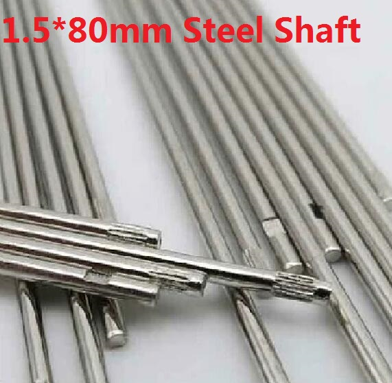 10 pcs/lot 1.5*80MM DIY Cars Steel Shaft Axis Model Embossing Metal Connecting Rod Free Shipping Russia  цена и фото