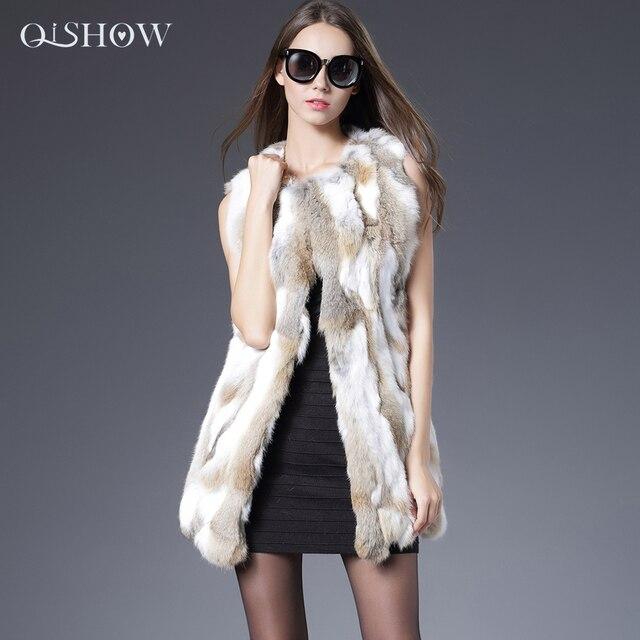 Sexy Fur Vest Women Rabbit Fur Vest Real Fur Coats For Women Winter Autumn Brand Sale Fur Vest Coat Fashion Outwear High Quality