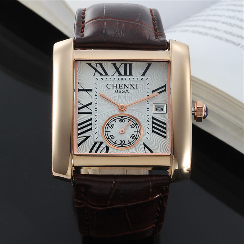 2017 Band Wrist Watch Luxury Square Dial Quartz Analog High Quality Men Women Dress Watches Leather Strap Ladies Watch Bracelets high quality 2017 new design luxury brand man watch unisex fashion pu leather band quartz analog wrist watches watch hot sale