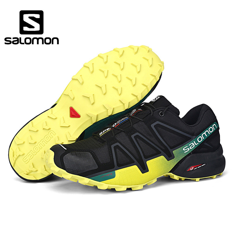 Salomon Speed Cross 4 CS Zapatos de hombre Running shoes Breathable Sneakers Athletic Sport Shoes SPEEDCROS Shoes Size 40-46 salomon shoes speed cross 3 cs iii men running shoes summer breathable flats sport shoes trainers black white sneakers eur 40 46