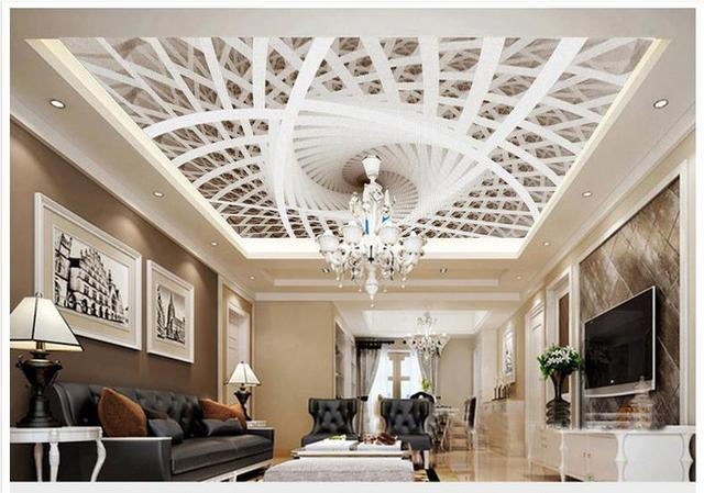 High Quality Hot Sale New Customized 3d Ceiling Wallpaper