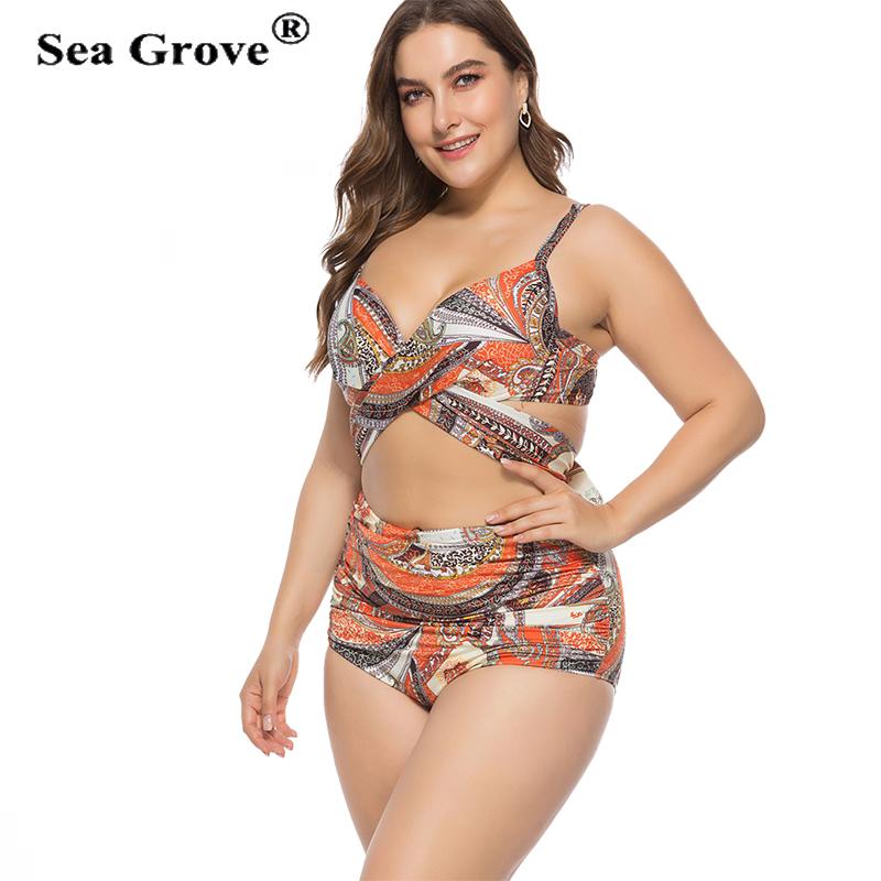 92edf3699299f Sexy Bikini Set Women Swimsuits 2019 Plus Size 3XL 4XL 5XL Swimwear Women  Bathing Suit Pool ...