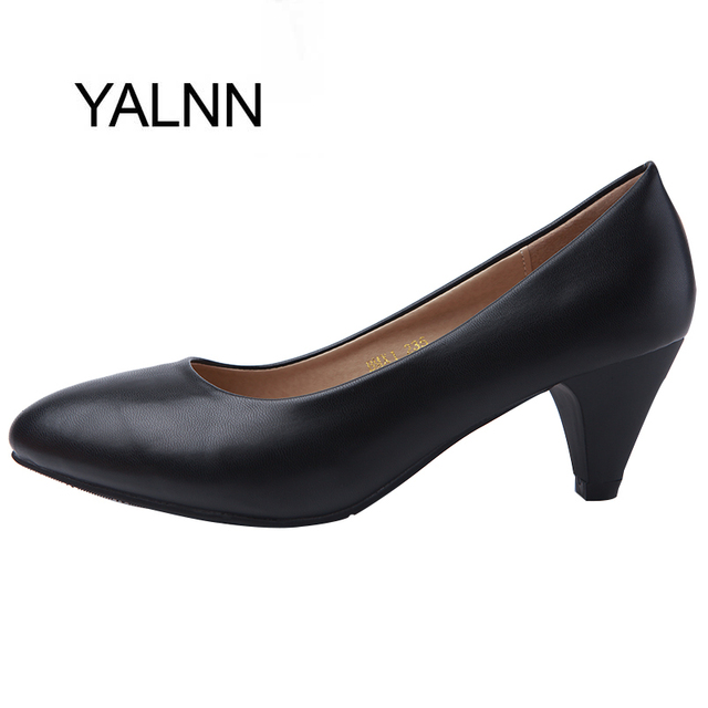 YALNN Women Pumps Shoes Basic Classics style 5cm Med spike Heels Pointed Toe for Office Career Shoes Women