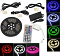Home Kitchen Garden Car Light Decoration, 2835 300LED 5M RGB Non Waterproof Flexible Lamp Light Strip with 44 Key Remote 12V 5A