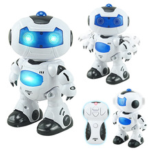 New Mini RC Robot Toy Musical Dancing Lighting Walking Roating Toys for Children Gift with Original Box