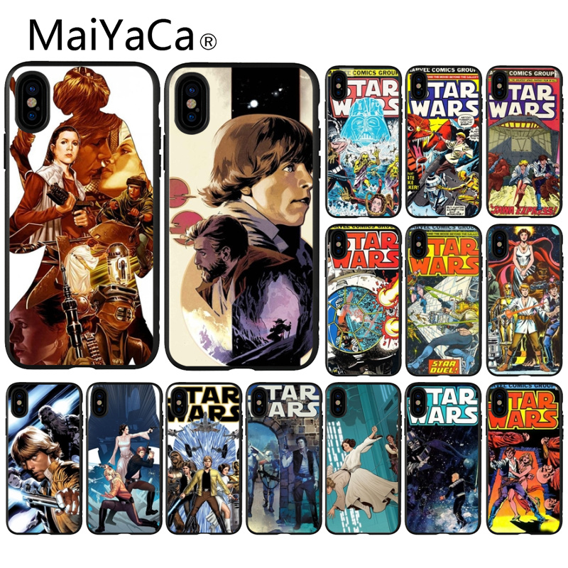 MaiYaCa star wars marvel comics Soft Silicone black Phone Case for Apple iPhone 8 7 6 6S Plus X XS MAX 5 5S SE XR Mobile Cover image