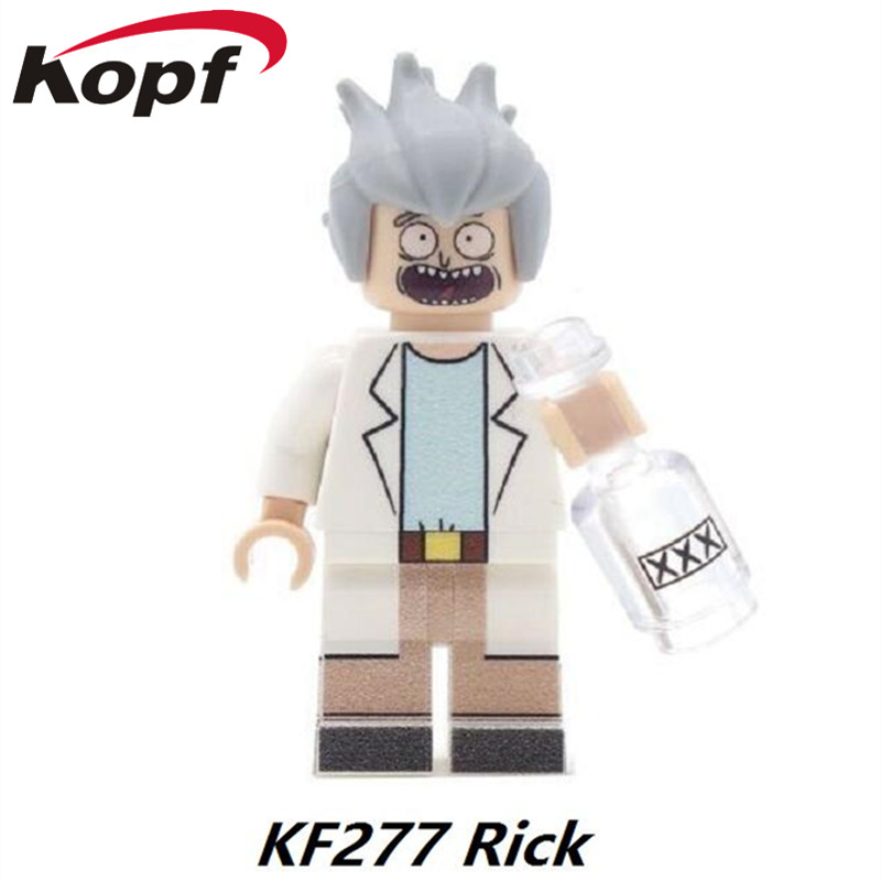 Single Sale Super Heroes Star Wars Rick Morty Magic Teacher Terminator Bride Aurra Sing Building Blocks Children Gift Toys KF277 building blocks super heroes back to the future doc brown and marty mcfly with skateboard wolverine toys for children gift kf197