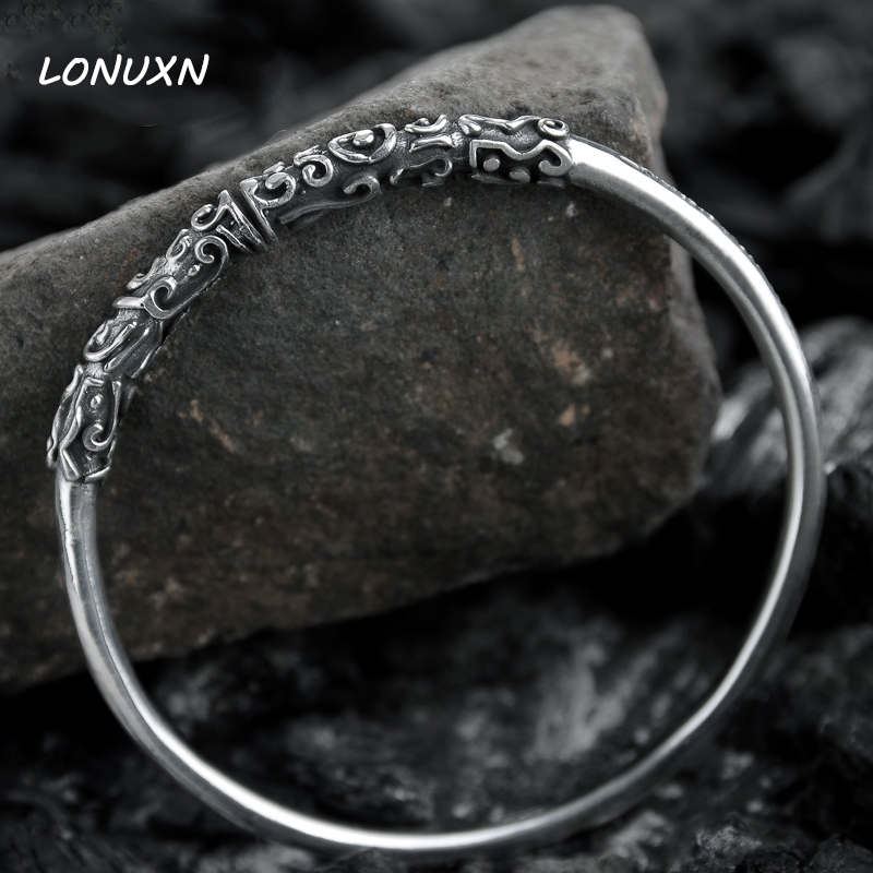 25g Size adjustable female fine Authentic 100% 999 Sterling Silver open Bracelet for men women jewelry women lovers best gift