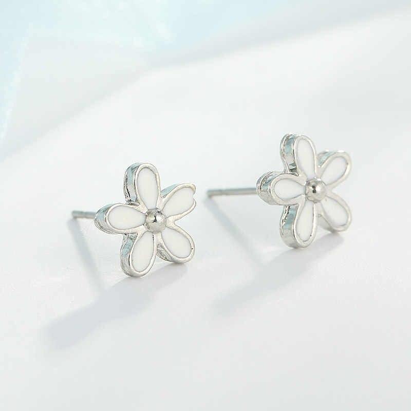DINGLLY Lovely Daisy Flower Stud Earrings For Women Fashion Flower Pandora  Earrings Jewelry Charm