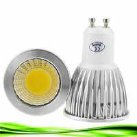 Super brillante bombilla de foco LED GU10Light regulable Led 110V 220V AC W 9W 12W 15W LED GU10 COB LED lámpara de luz led GU 10