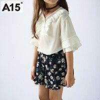 A15 Brand Summer Children Clothing Set Baby Girl Clothes 2018 Toddler Girls Tracksuit Kids Summer Tops