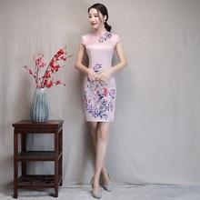 Silk dress 2018 Fashion Short Cheongsam Women New Improved Slim Sexy Cheongsam Dress Chinese wedding dress Wedding cheongsam