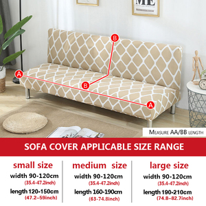 Image 2 - גידמת ספה כיסוי למתוח יהלומי הדפסת ספת מיטת כיסוי ספה ספנדקס ספה מכסה ללא משענות אלסטי ספה כיסוי 1PC