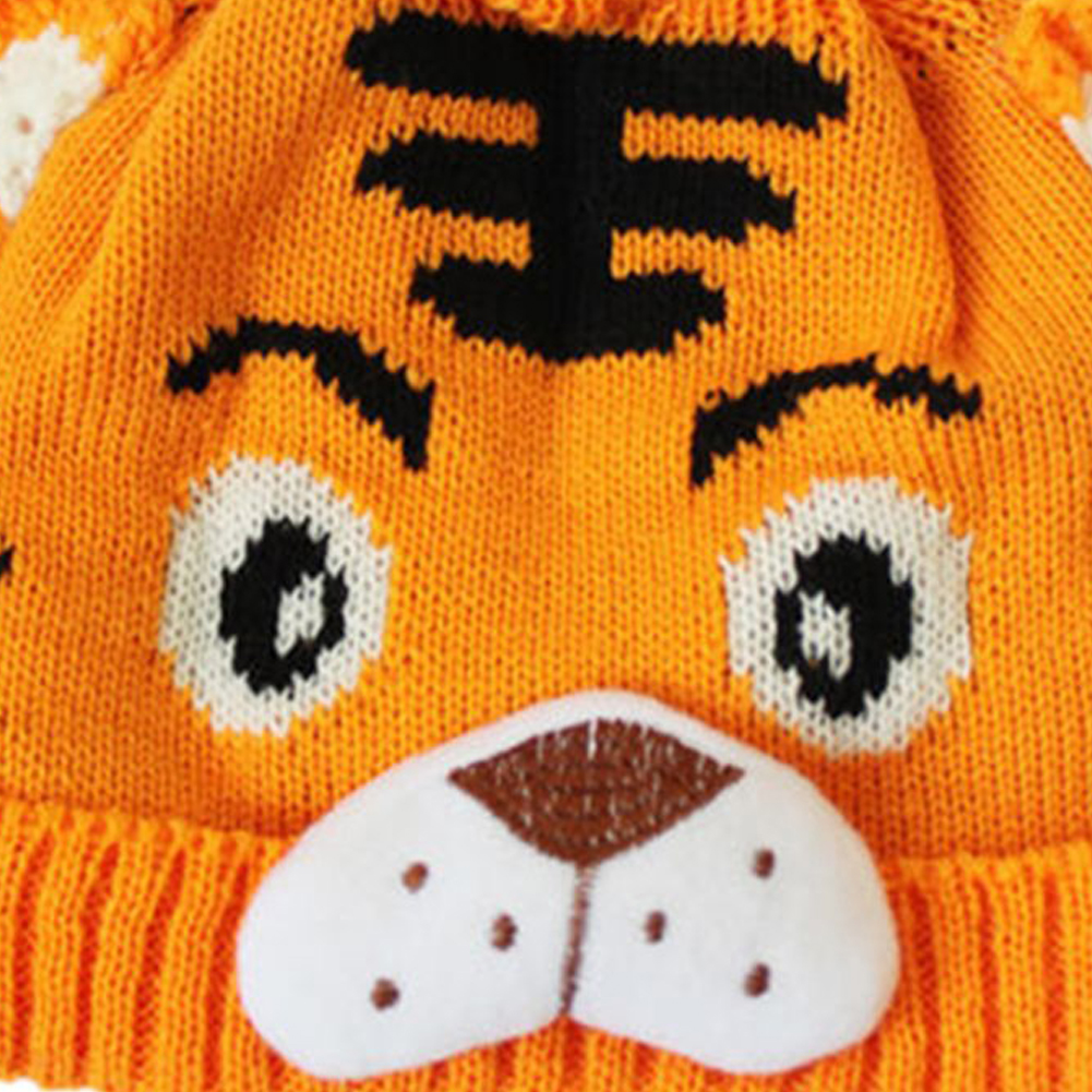 1pc Baby Girls Boys Kids Toddlers Crochet Knit Cute Tiger Hat Cap Beanie Bonnet