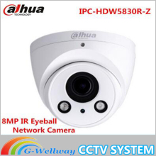 DHL Dahua 8MP IR Eyeball Network Camera IPC-HDW5830R-Z H.265 Dome Onvif POE Micro Built in Mic IP67 IK10 50m IR English vesion