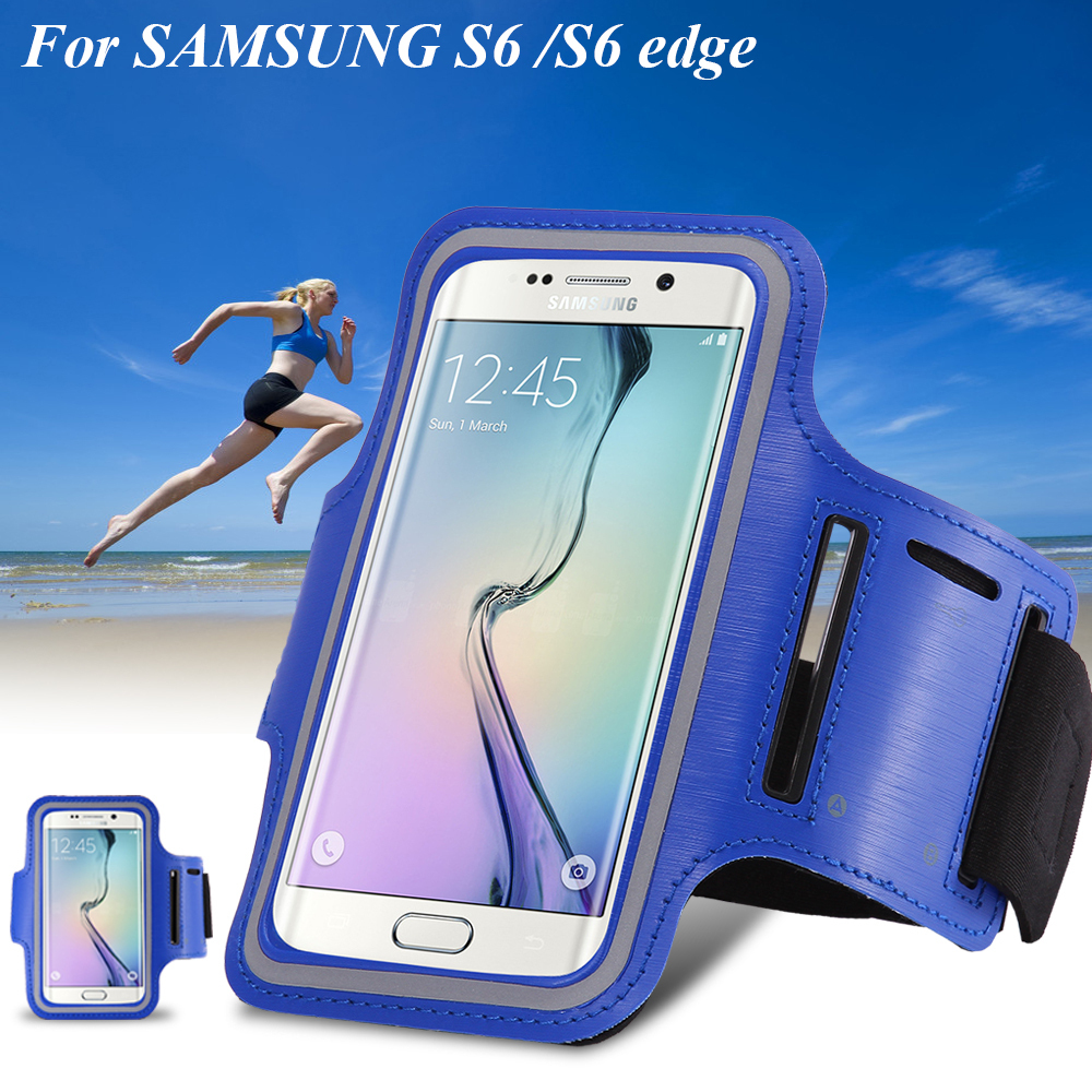 HTC M7 M8 M9 üçün Samsung Galaxy S7 s6 kənarında S5 S4 S3 A5 üçün Arm Band Case Holder Pounch Belt Deportivo Sport Running Aksesuarları