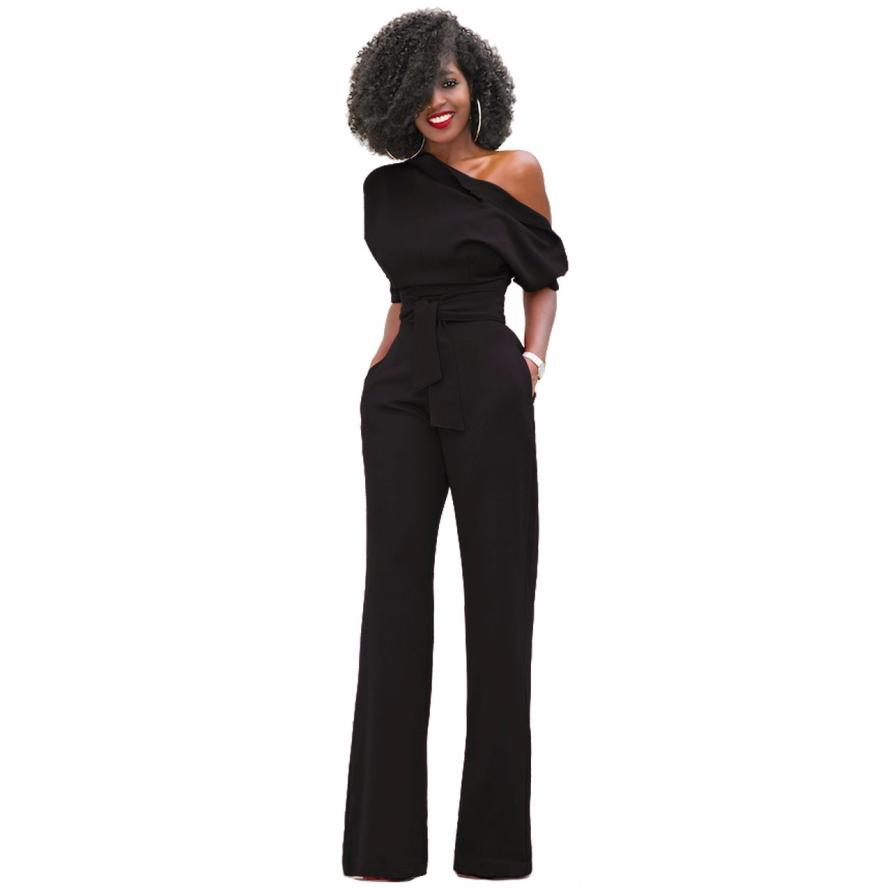 KANCOOLD Bodysuit new high quality One Shoulder Bodycon Bandage Long Clubwear Party Romper Playsuit Bodysuits women feb5