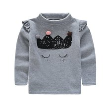 2017 autumn winter youngsters printing plus velvet base shirt for woman sweater for child gril ropa de bebe