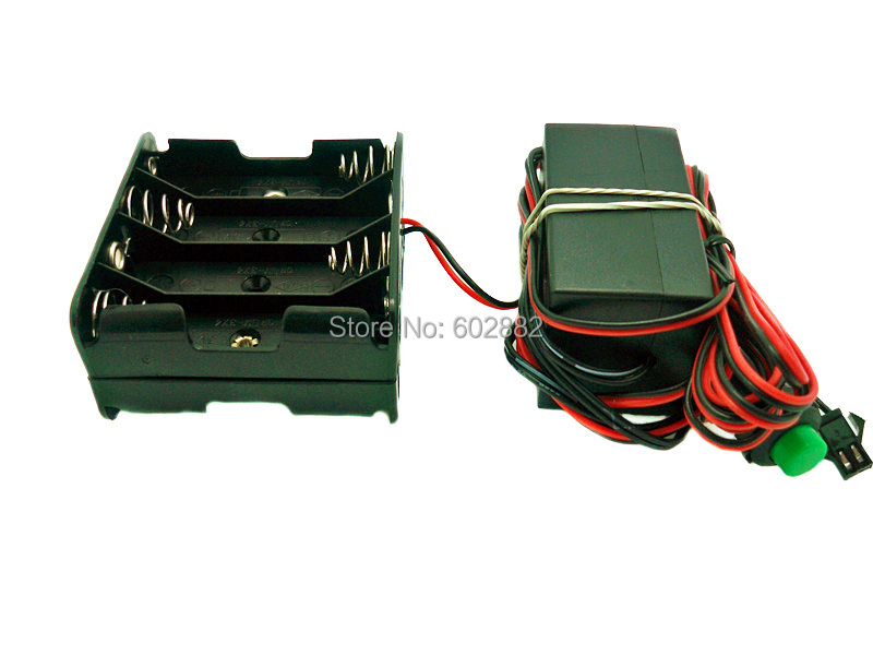 12V Inverter for 10 20 Meters EL Wire with Cell Box Push Button Free Shipping