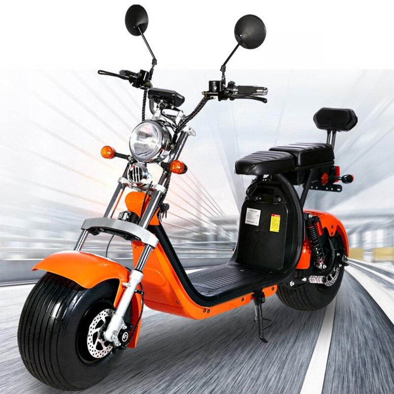 60 V 1500 W vélo électrique Harley voiture adulte ebike batterie voiture électrique motos scooter lithium chariot roue passager